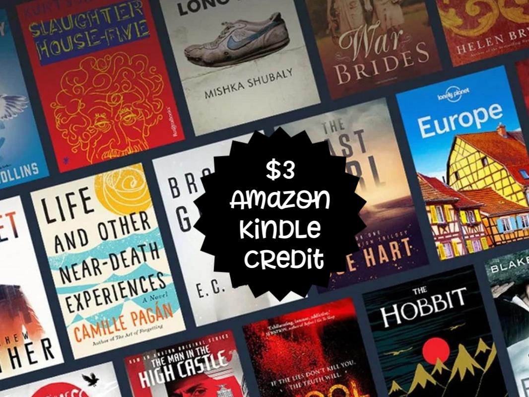$3 Amazon Kindle Credit