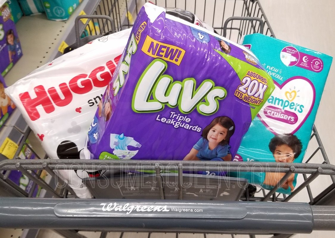 Diaper Deals at Walgreens – Pampers, Luvs, & Huggies