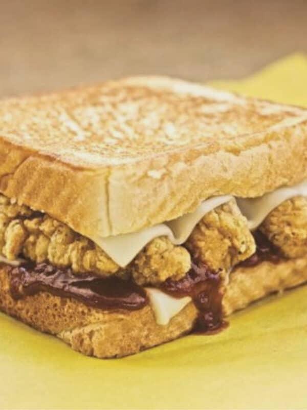 Honey BBQ Chicken Strip Sandwich