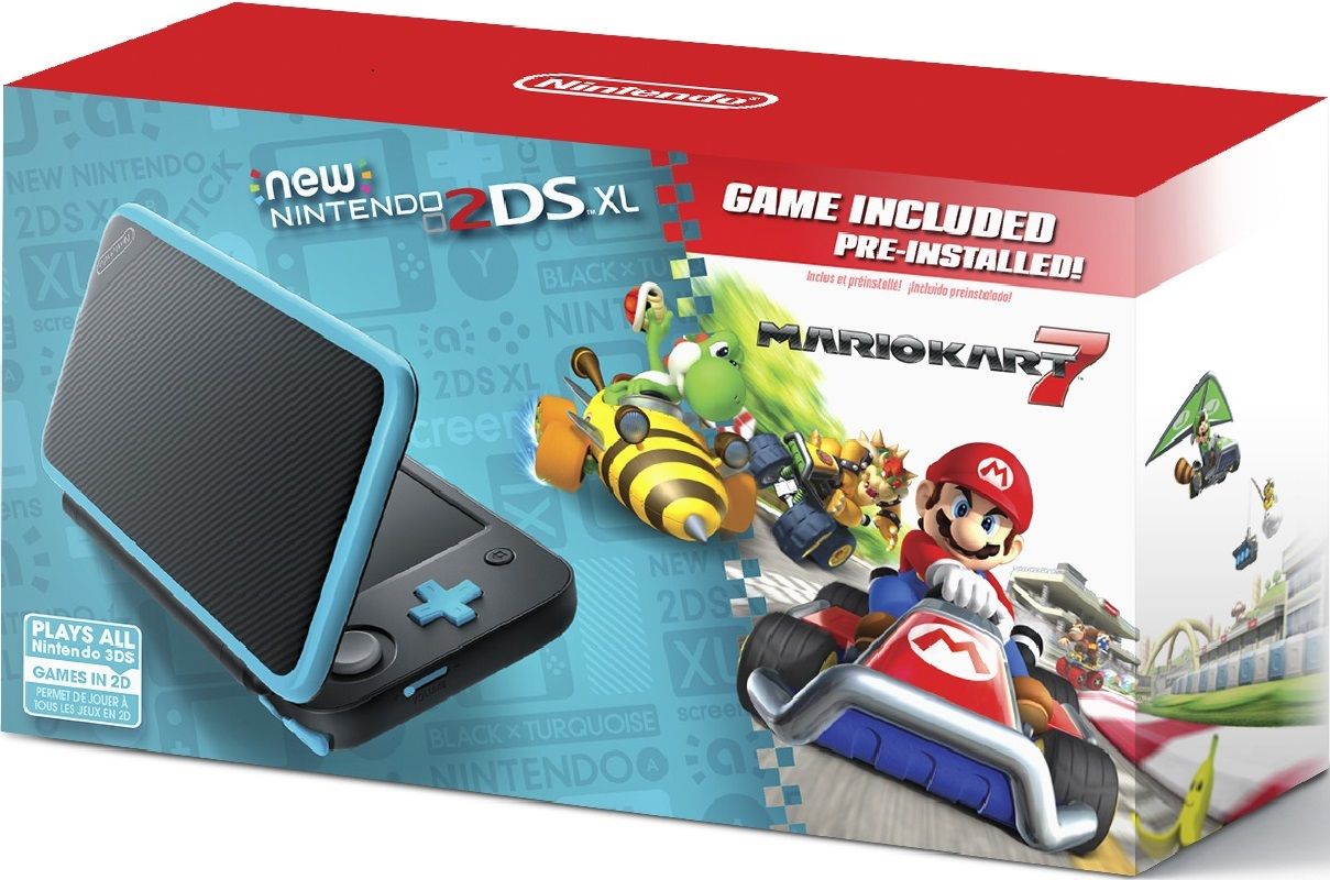 Nintendo 2DS XL System with Mario Kart 7 JUST $99- Ships Free!
