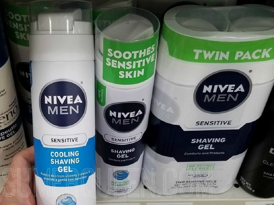 Nivea for Men Products - Nivea Shave Gel Nivea shave gel and foam