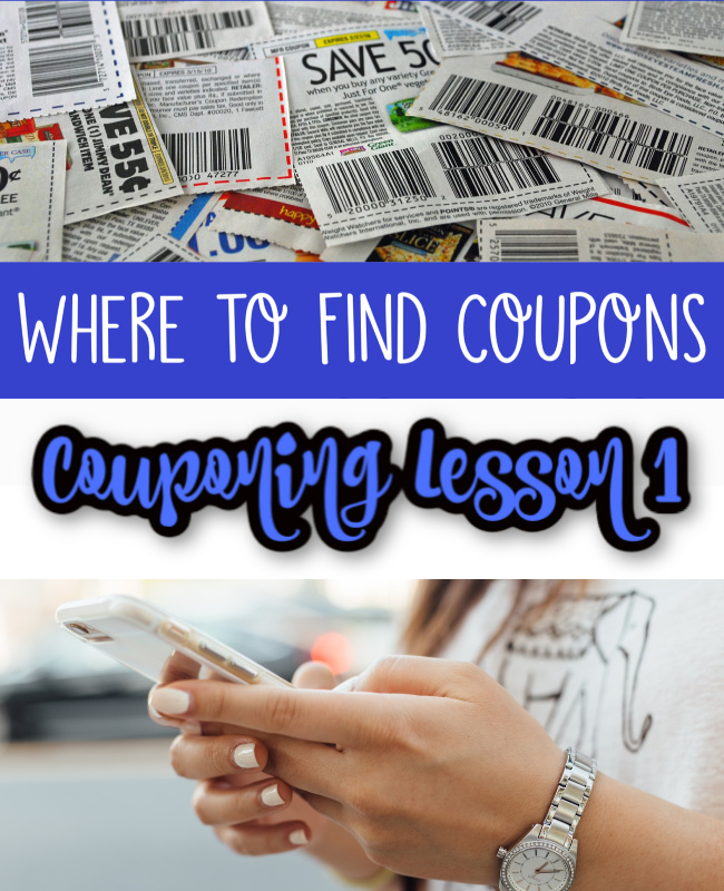 Where to Find Coupons - Coupon Lesson 1 Pinterest