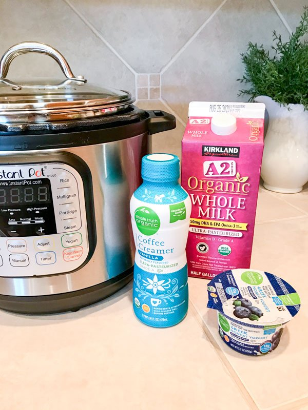 Instant Pot Yogurt Recipe Ingredients