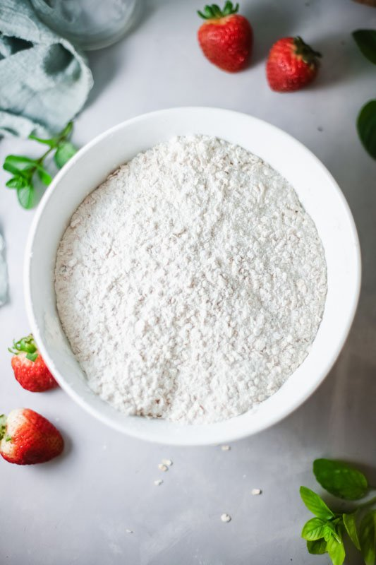 Strawberry Crumble Bars flour mixture