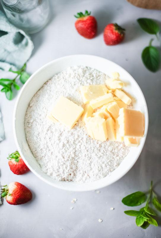 cold butter mixture
