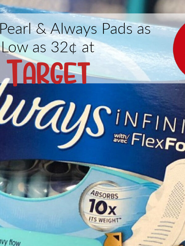 Tampax Pearl & Always Pads JUST 32¢ at Target After Gift Card – Stock-up Time!