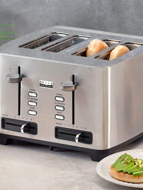 Bella 4 Wide Slot Toaster