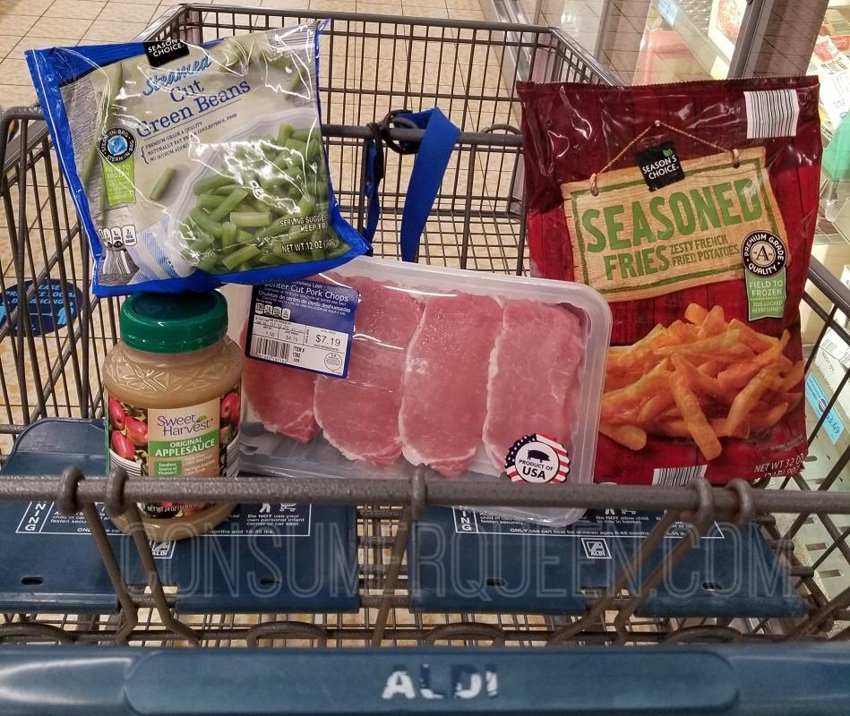 Pork Chops & Applesauce Meal for 4 – Under $11 at Aldi!
