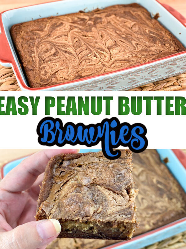 Easy Peanut Butter Brownies