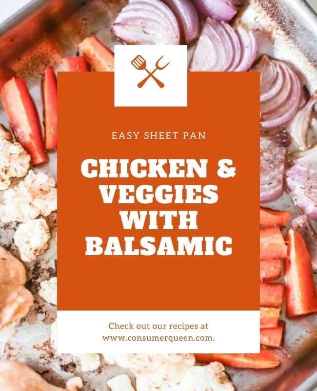 Sheet Pan Chicken and Veggies Pinterest Header