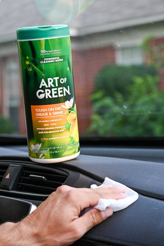 art of green cleaning wipes
