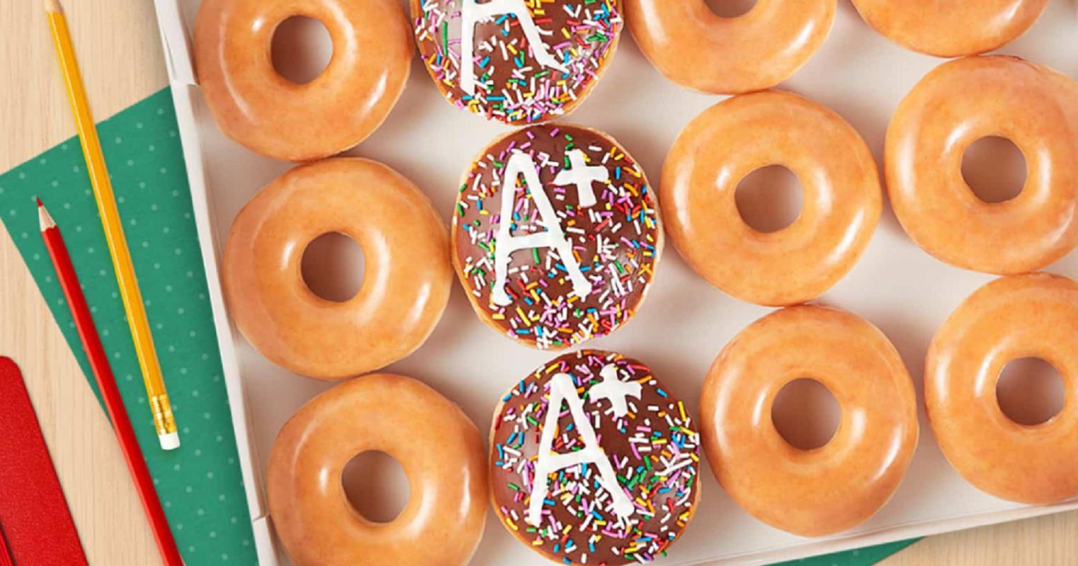 Krispy Kreme A+ Dozen Doughnuts BOGO Free Today Only!