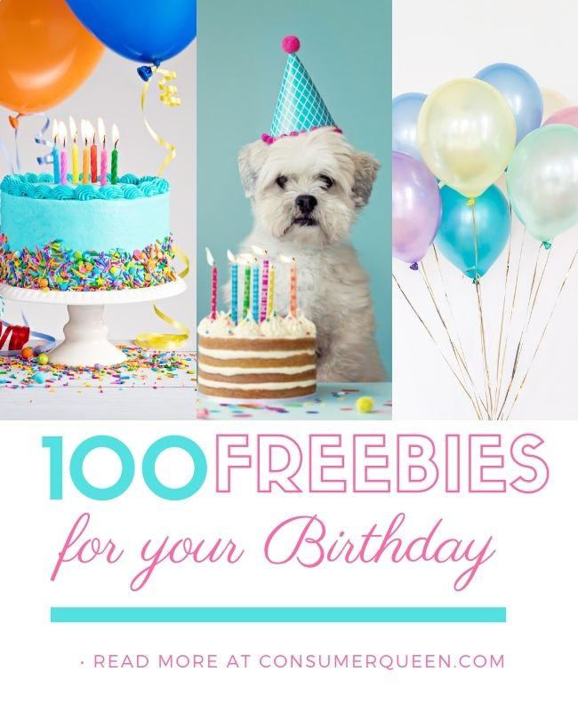 Score Over 100 Birthday Freebies