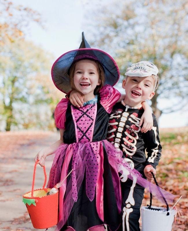 Halloween Jokes for Kids - Kids Celebrating Halloween photo