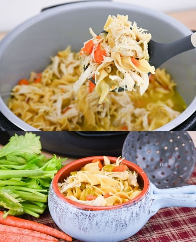 Pressure Cooker Chicken and Noodles Soup