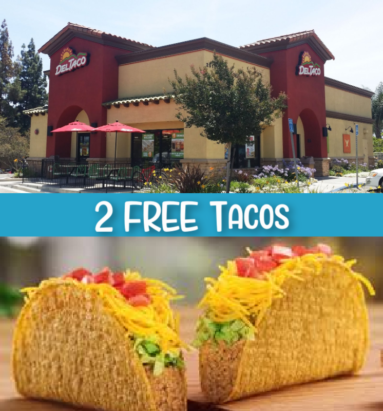 Del Taco – 2 FREE Tacos + More For New eClub Members!