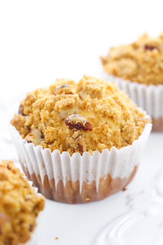 pecan pie muffins side view