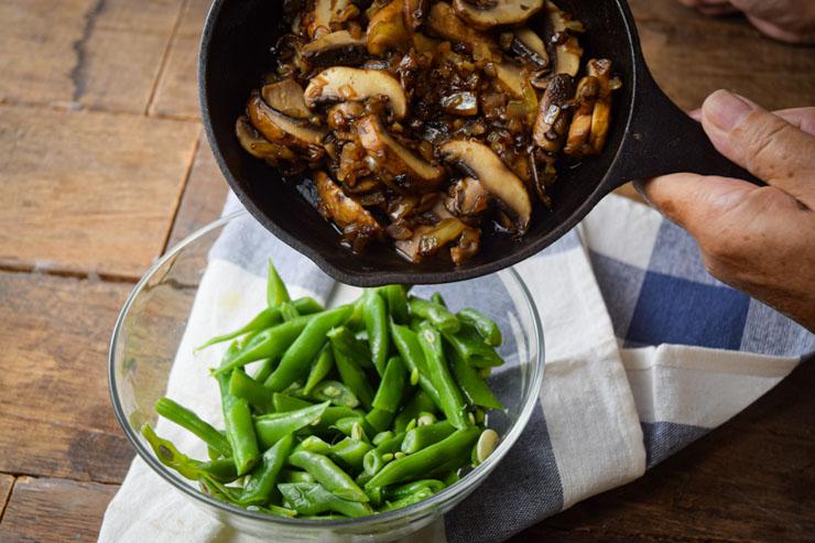 Green Bean Casserole mushrooms