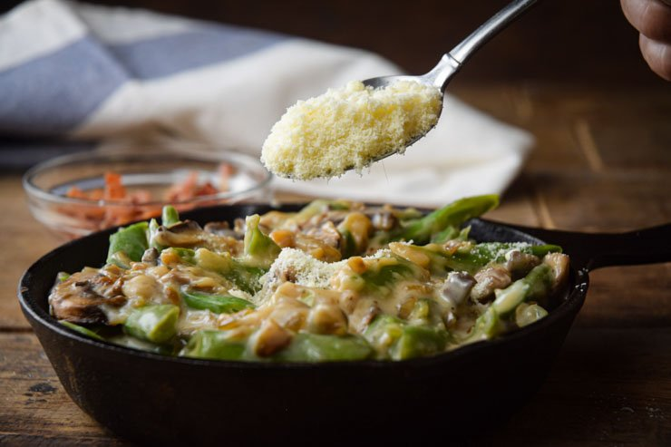 Green Bean Casserole parmesean cheese
