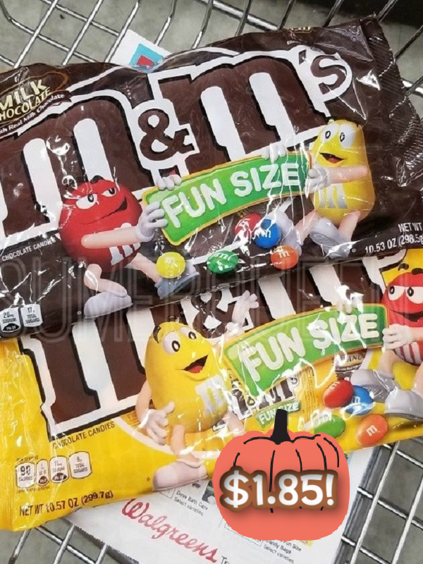 M&Ms Halloween Fun Size Bags Only $1.85 Each at Walgreens (Reg. $4.99!)