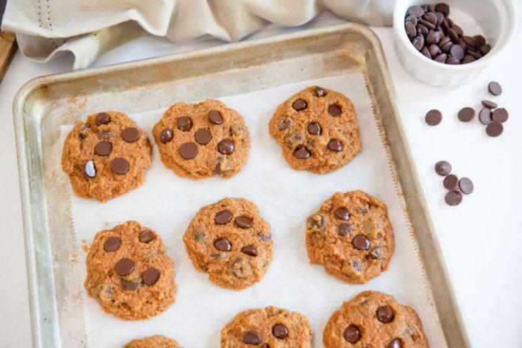 Pumpkin chocolate chip cookies done