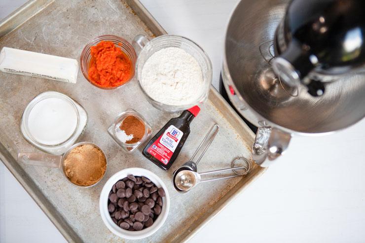 Pumpkin chocolate chip cookies ingredients (1 of 1)