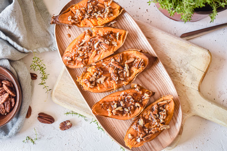 Sweet Potato Boats Plated Top