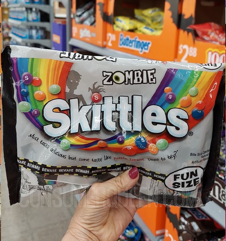 Skittles Fun Size Bags Zombies