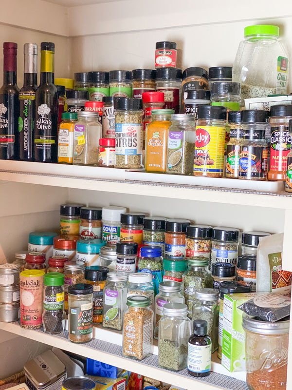 Old pantry spice rack
