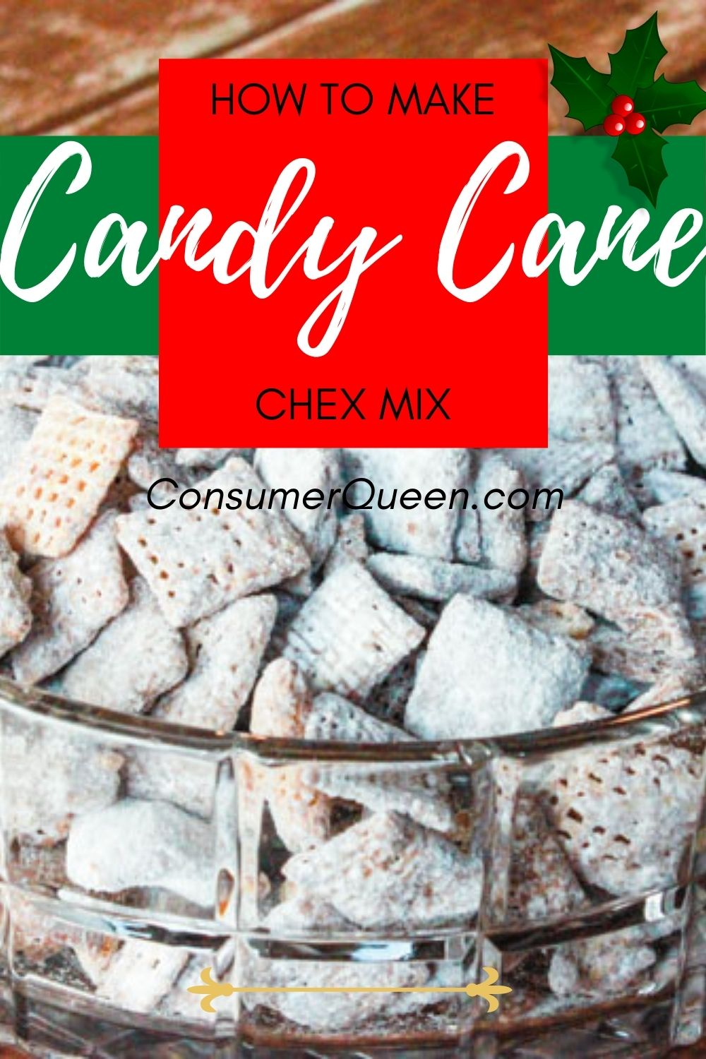 Candy Cane Kisses Puppy Chow Chex Mix Recipe