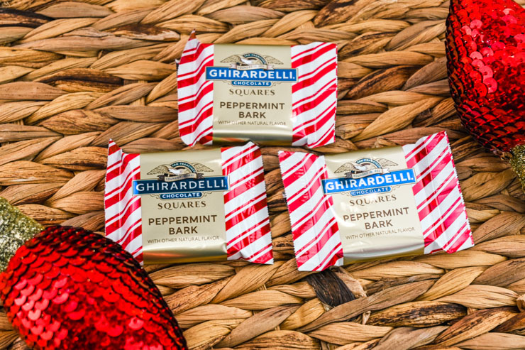 Ghirardelli squares peppermint bark