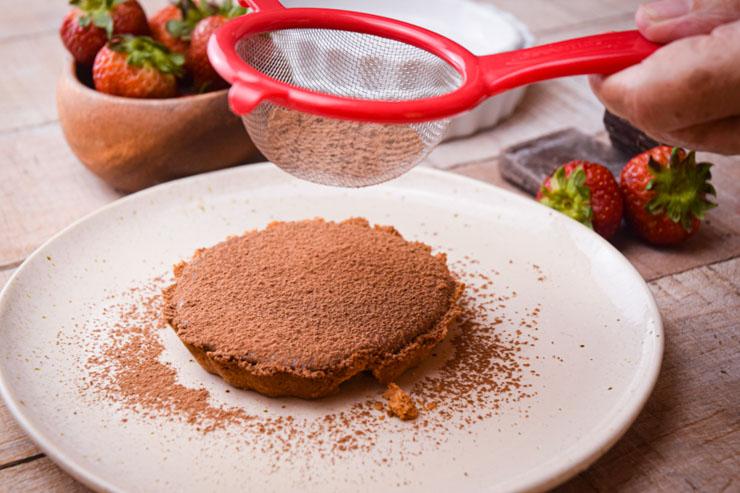 Mini Chocolate pie add pie dust