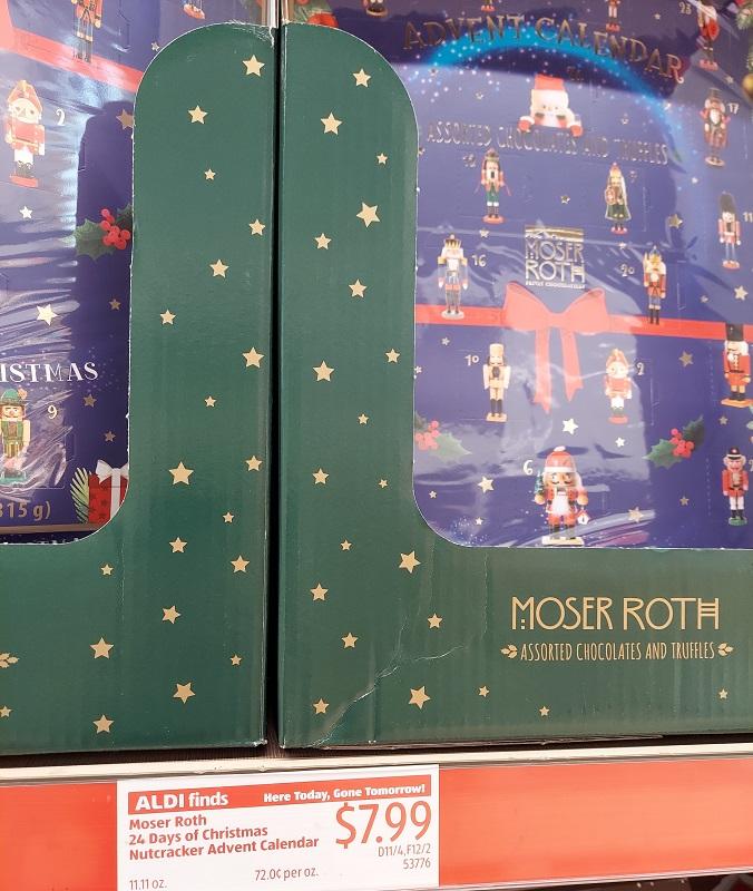 Moser Roth advent calendar at Aldi