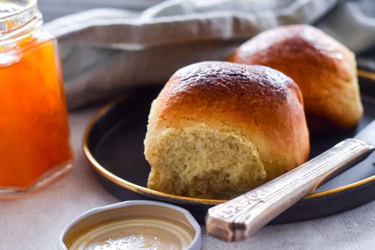 Yeast Rolls plated