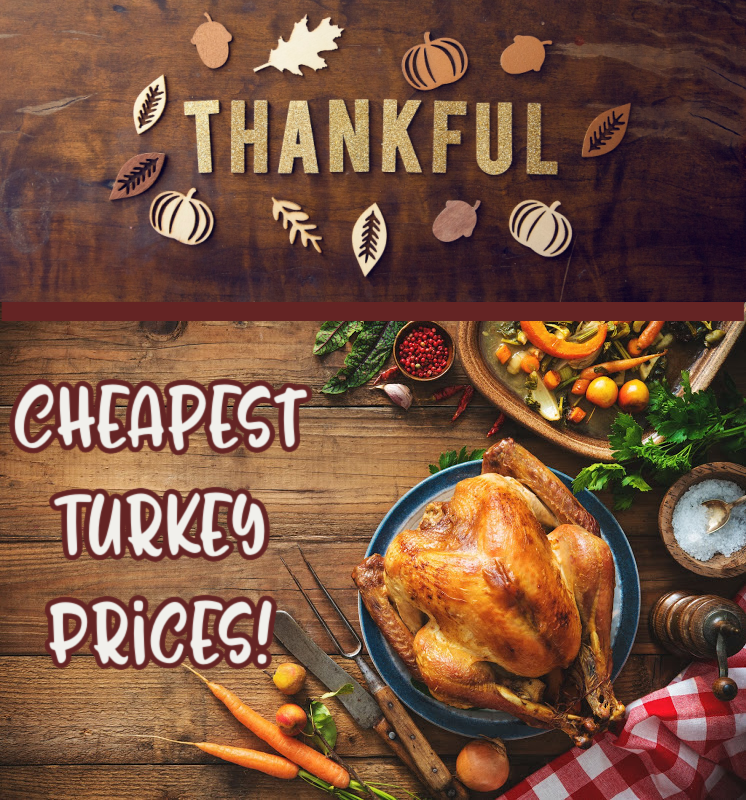 Cheapest Turkey Prices