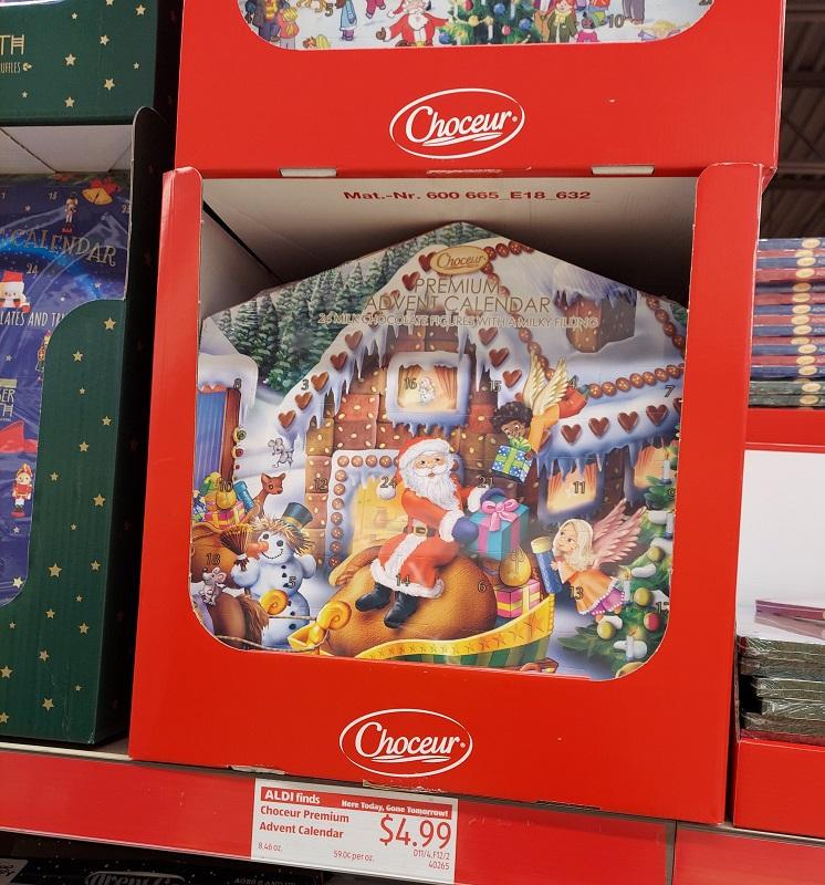 Choceur advent calendar at Aldi