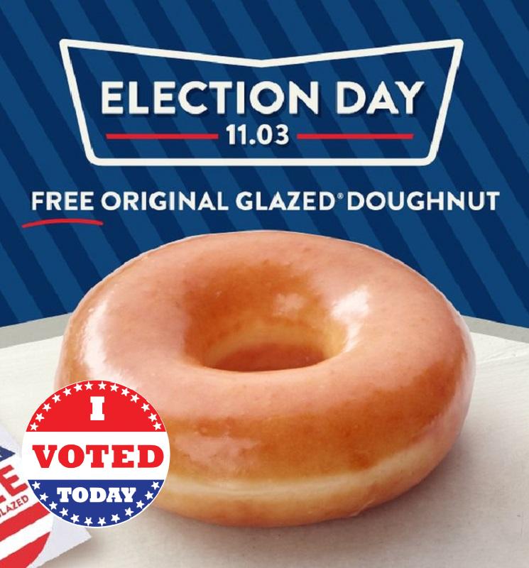Free Glazed Donut at Krispy Kreme for Voters! *EXPIRED*