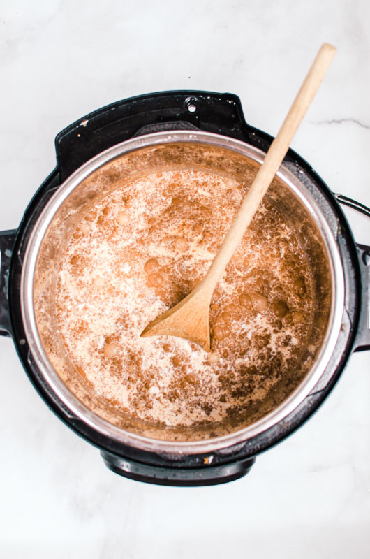 Instant Pot Hot Chocolate Cooking