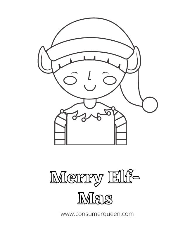 Free Elf Coloring Page
