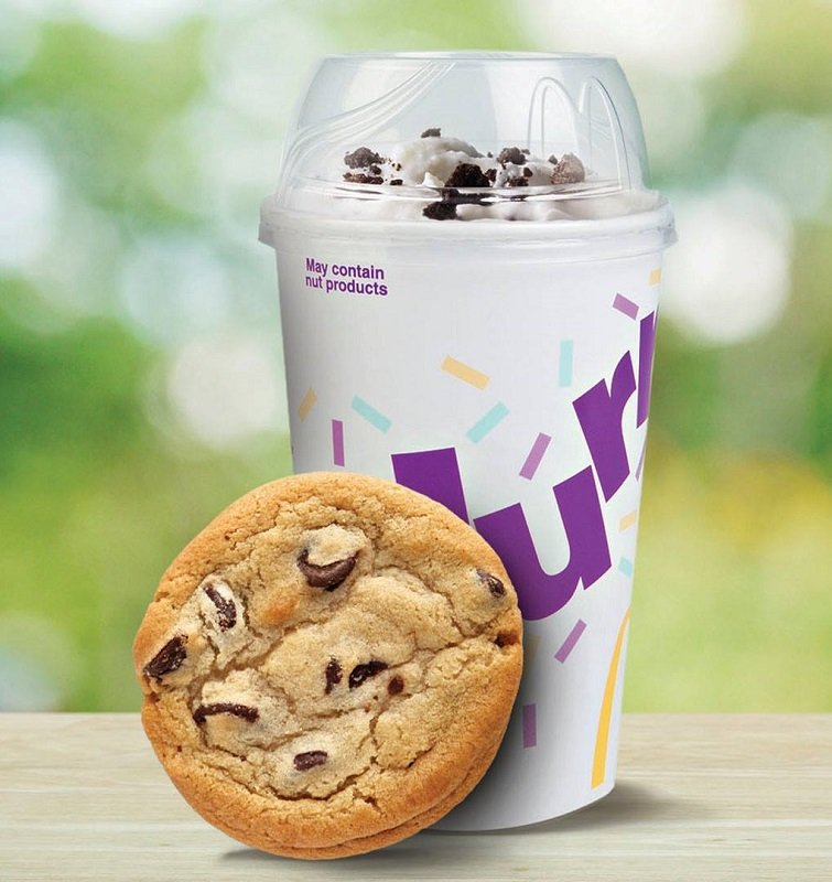 Free McFlurry and chocolate chip cookies at McDonalds