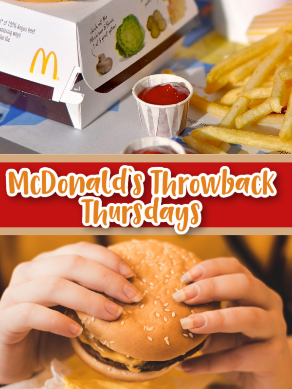 Throwback Thursday at McDonalds – 25¢ Cheeseburger With $1 Purchase!