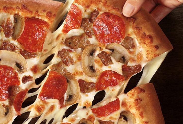 pizza hut 3-topping stuffed crust pizza