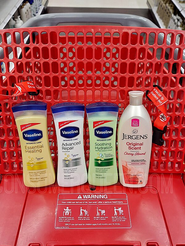 Vaseline Body Lotion 10¢ + Free Jergens at Target This Week!