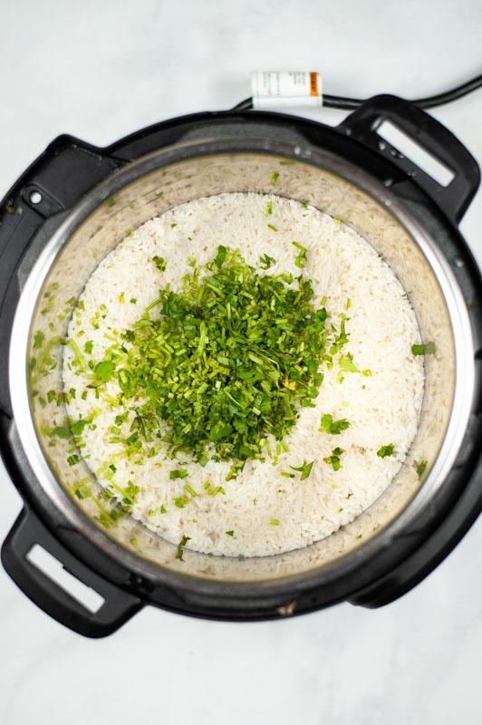 Cilantro Lime Rice add cilantro