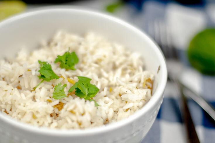 Instant Pot Cilantro Lime Rice Close Up