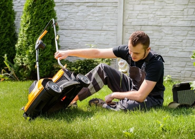 Lawn Mower Blades - Lawn mower cutting grass - Sears PartsDirect Coupon Information and Signup