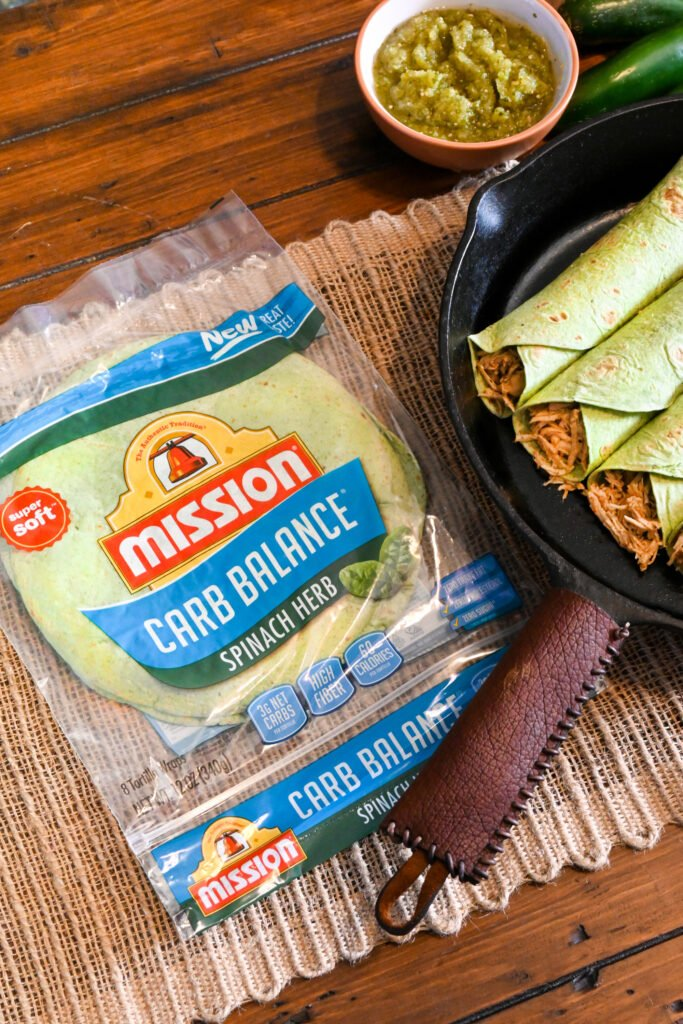 Low Carb Chicken Enchiladas with Mission®  product