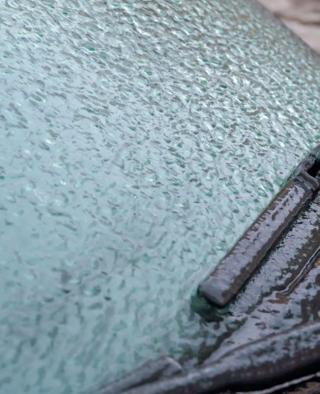 icy car windshield - homemade ice melter
