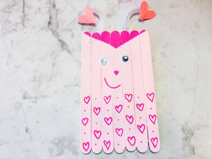 love bug draw hearts