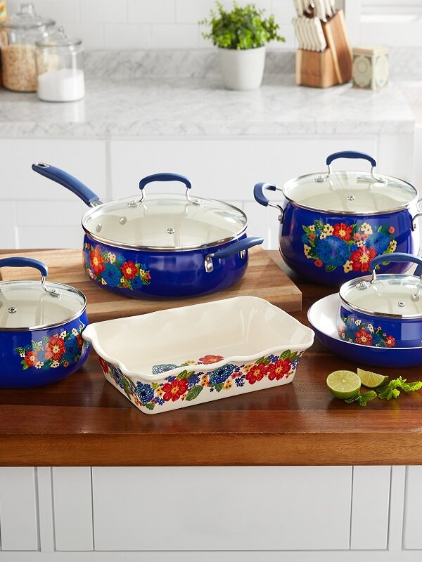 The Pioneer Woman 10 Piece Ceramic Cookware $79 Shipped